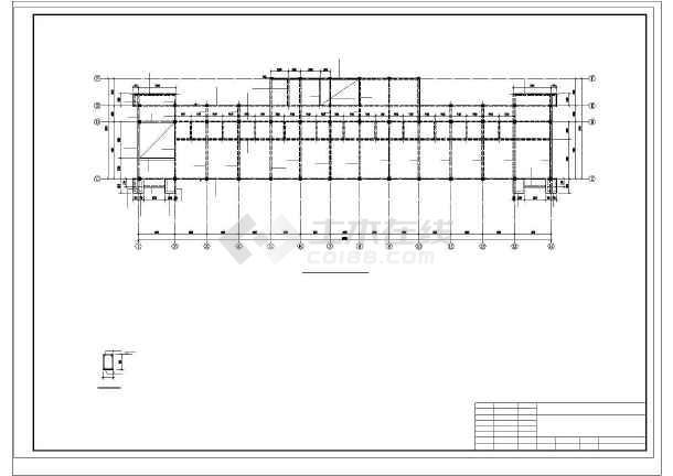 安徽某框架办公楼结构设计图-图3