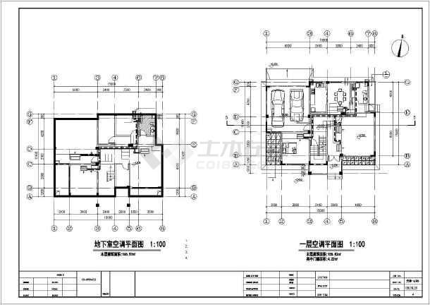 某别墅区地源热泵全套空调图-图1