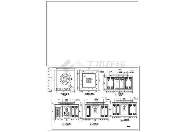某市中心餐厅装修设计CAD图纸-图1