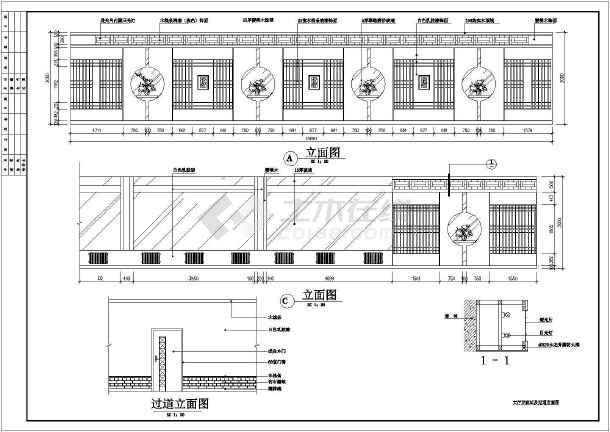 某市中心餐厅装修设计CAD图纸-图2