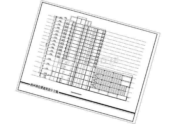 某商住楼建筑设计CAD方案(带效果图)-图2