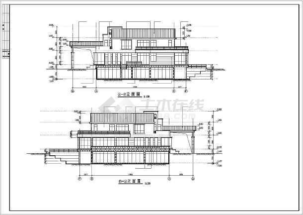 某休闲别墅建筑结构施工图-图1
