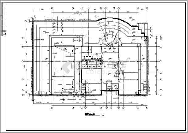 某休闲别墅建筑结构施工图-图3