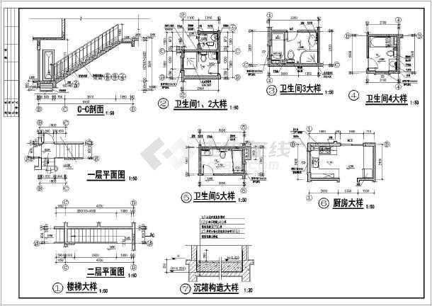 某欧式别墅建筑结构施工图-图2