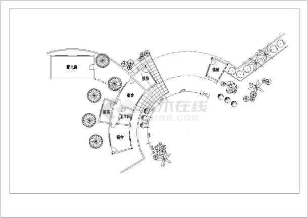 某招待所建筑设计方案图-图1