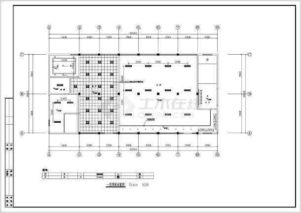 某职工宿舍综合楼装饰设计cad施工图-图1
