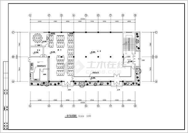 某职工宿舍综合楼装饰设计cad施工图-图2