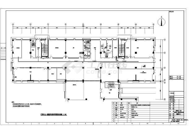 [上海]社会福利院养老院电气全套智能化系统工程图纸-图1