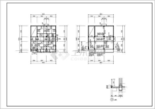 某四层混合结构私人住宅楼全套建筑结构设计图-图2