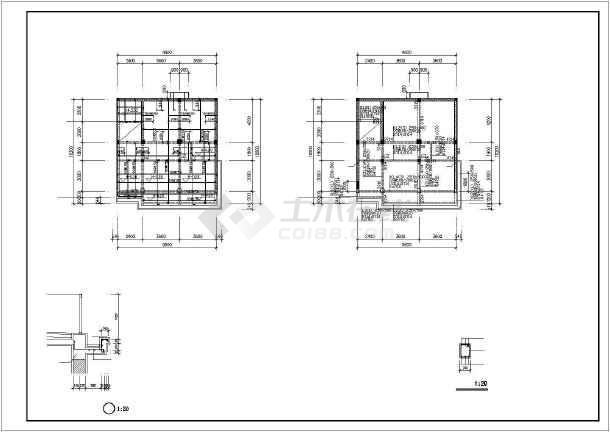 某四层混合结构私人住宅楼全套建筑结构设计图-图3