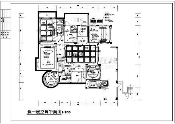 广州某售楼部及别墅空调通风图纸-图1