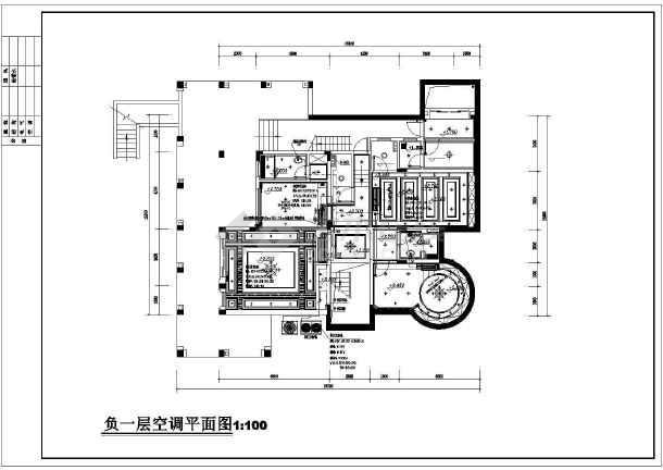 广州某售楼部及别墅空调通风图纸-图2