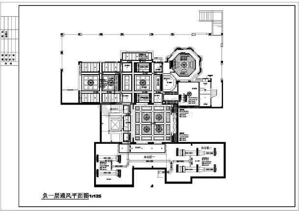 广州某售楼部及别墅空调通风图纸-图3