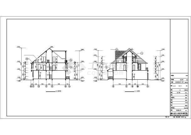 231平米高档别墅全套建筑设计图-图3