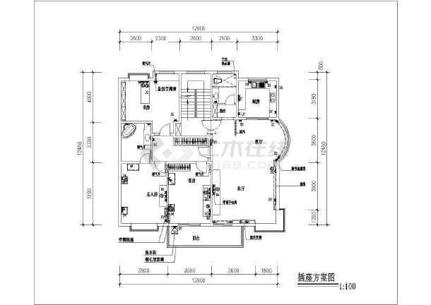 某商品房装修设计cad方案图-图1