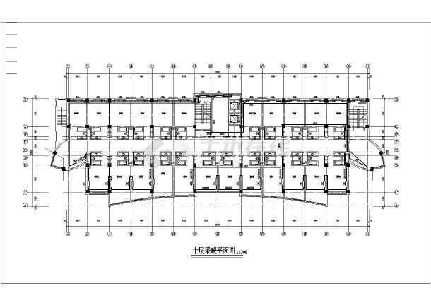 高层宾馆采暖、给排水设计、采暖方式地热加散热器相配合设计图纸-图1