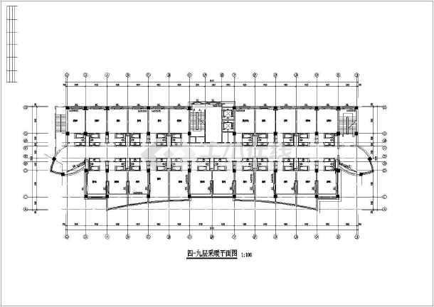 高层宾馆采暖、给排水设计、采暖方式地热加散热器相配合设计图纸-图3