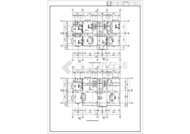 某框架住宅结构设计图-图1