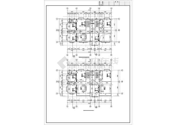 某框架住宅结构设计图-图2