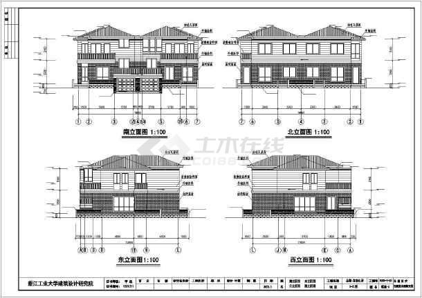 187平米欧式别墅全套建筑设计图-图2