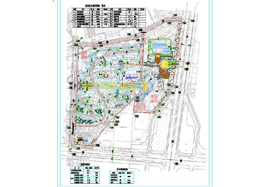小区园林景观建筑cad规划及效果图-图1