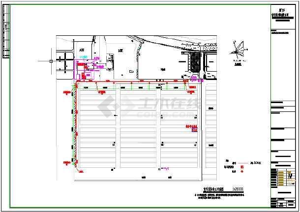 某码头污水处理工程给排水施工图和污水处理工艺图-图1