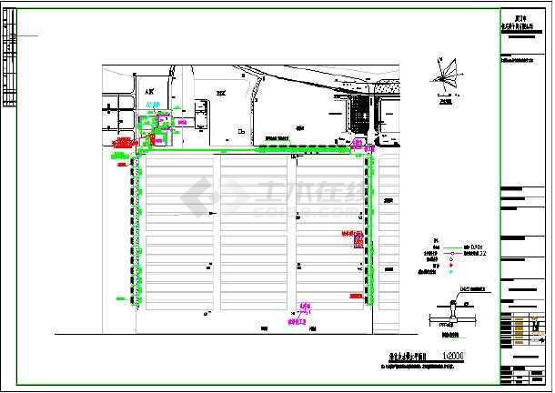 某码头污水处理工程给排水施工图和污水处理工艺图-图3