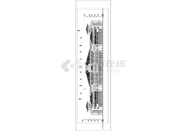 某服装机械城二期工程设计方案图-图3