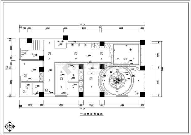 某美容院全套室内装修CAD图纸-图1