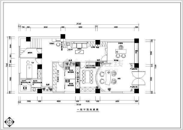某美容院全套室内装修CAD图纸-图2