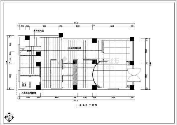 某美容院全套室内装修CAD图纸-图3