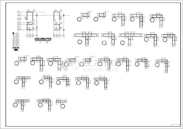 某高层框剪宾馆结构设计图-图1