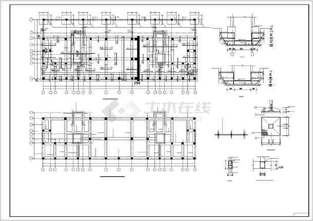 某高层框剪宾馆结构设计图-图3