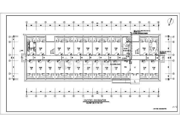 某大学宿舍楼电气施工图-图1