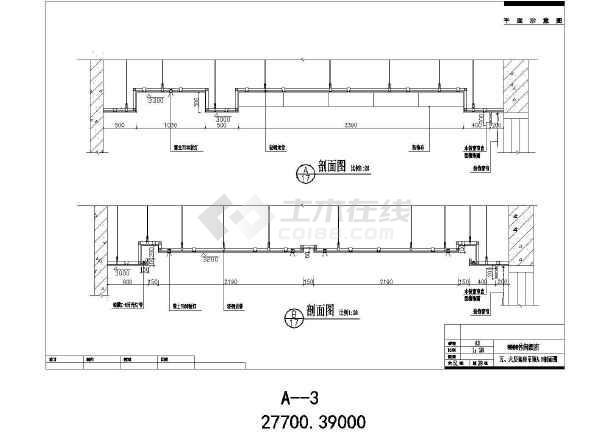 休闲酒店装修设计CAD施工图-图2