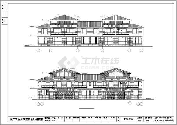 220平米别墅全套建筑设计图-图2