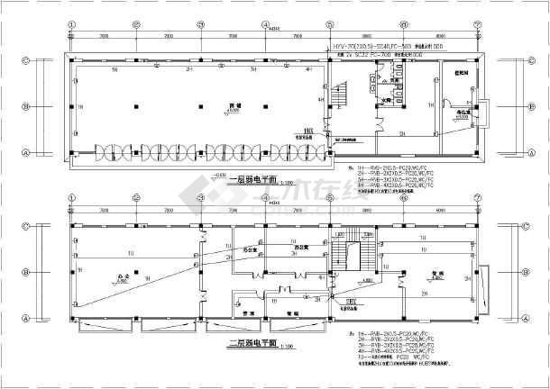 某办公楼电气图纸-图1