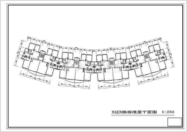 某户型住宅楼建筑图(共7张)-图1