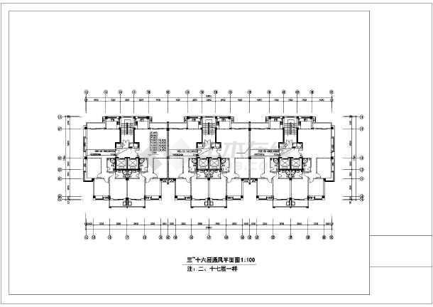 某市安置房暖通设计图纸-图3
