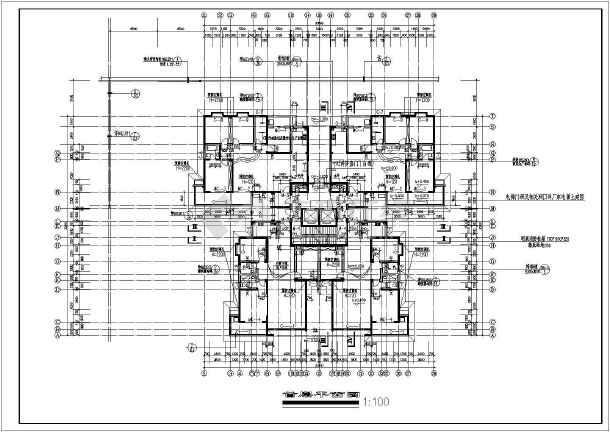 典型的高层住宅楼全套施工图(含设计说明)-图1