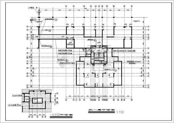 典型的高层住宅楼全套施工图(含设计说明)-图2