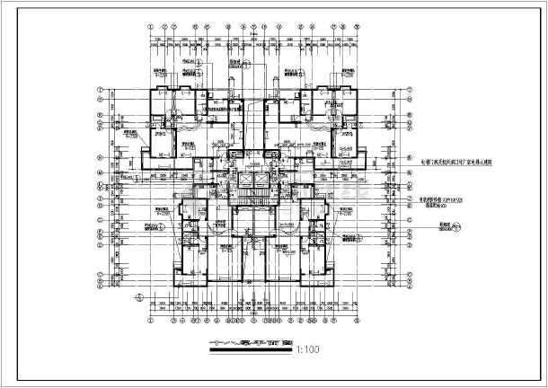 典型的高层住宅楼全套施工图(含设计说明)-图3