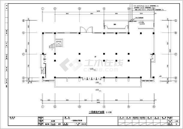 [江苏]大型办公楼全套电气施工图纸(包括消防设计)-图1