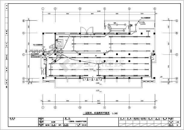 [江苏]大型办公楼全套电气施工图纸(包括消防设计)-图2