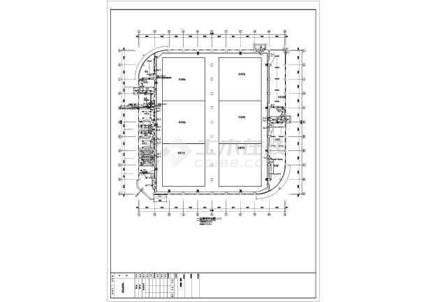 2016年某柔道、摔跤馆、体能馆实用电气图纸(综合布线接线图、有线电视接线图)-图1