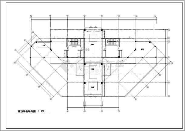 某高层人民医院门诊住院综合大楼cad施工图-图2