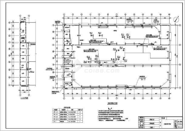 某公司综合厂房电气专业车间配电、照明、防雷、接地施工图-图1