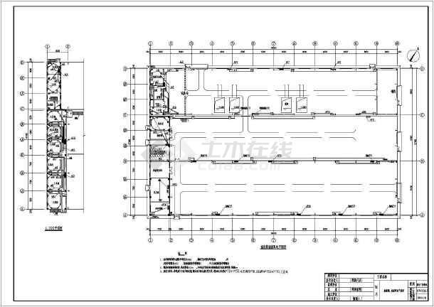 某公司综合厂房电气专业车间配电、照明、防雷、接地施工图-图3