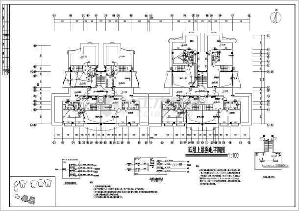 某商住楼全套电施图-图1