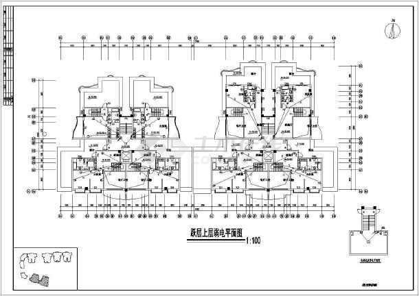 某商住楼全套电施图-图3